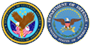 The seals of the Department of Defense and Veterans Affairs