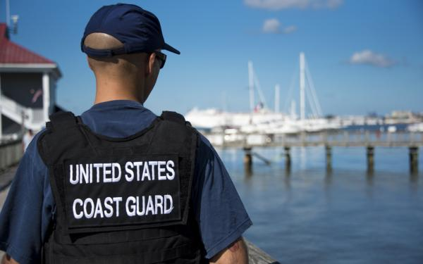 Image of person wearing US Coast Guard jacket